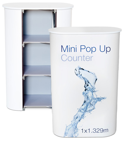 Mini Pop Up Counter - White Top