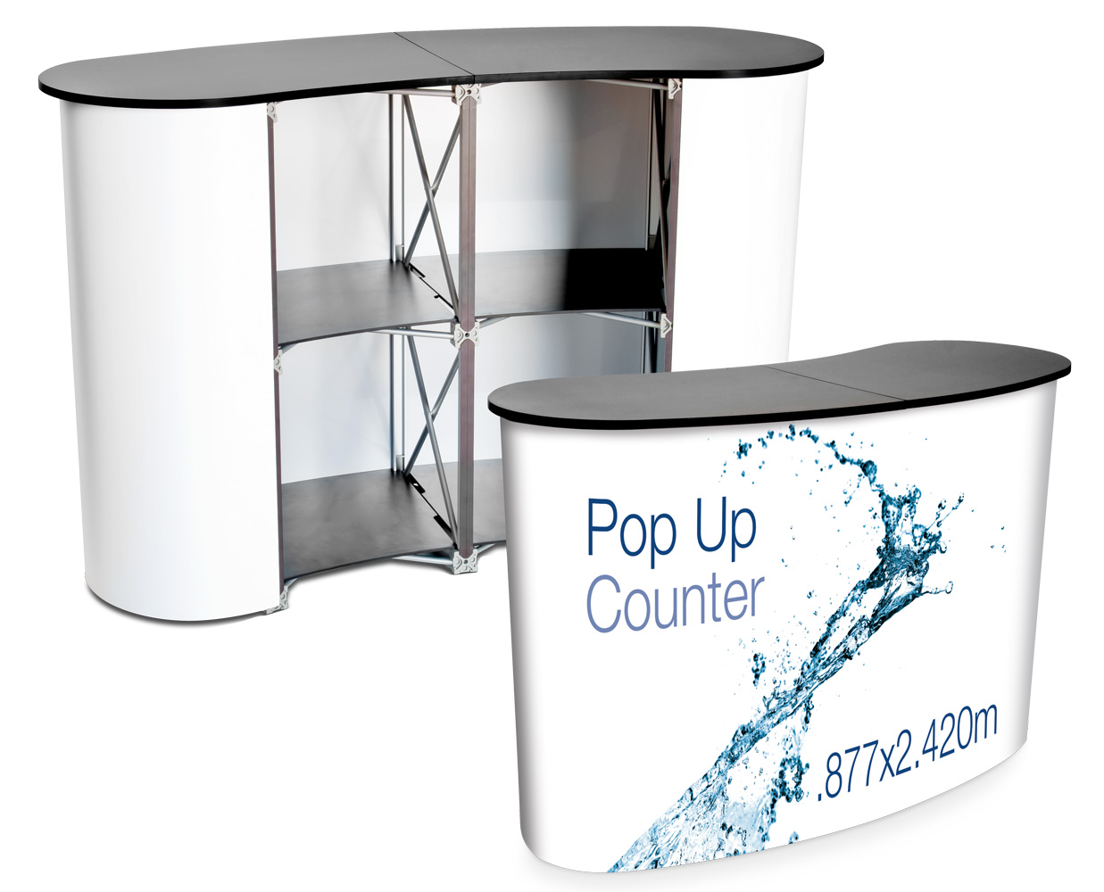Pop Up Counter - Black Top