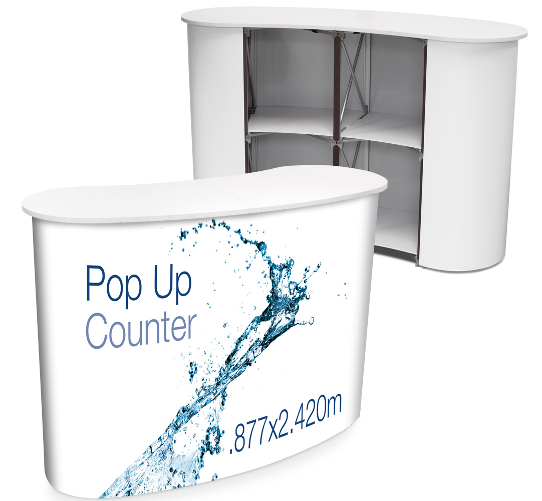 Pop Up Counter - White Top