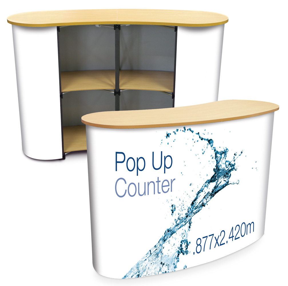 Pop Up Counter - Wood Top